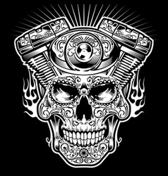Skull engine vector
