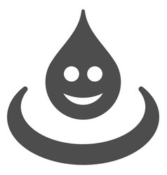 Smile drop ripple flat icon vector