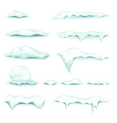 snow and ice elements set vector image