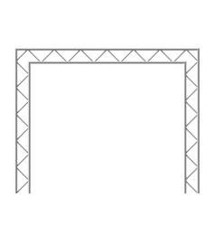 steel truss girder 3d construction equipment vector image