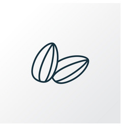 sunflower seeds icon line symbol premium quality vector image