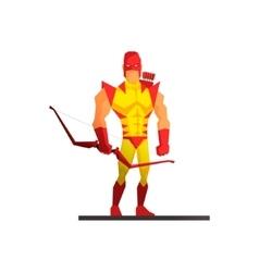 Superhero on white background vector image