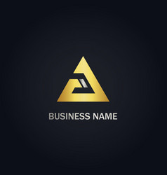 triangle delta business logo vector image