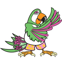 Tropical parrot dance vector image