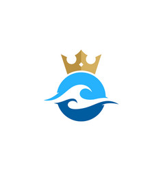 wave king logo icon design vector image