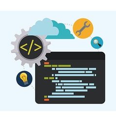 Web developer design vector