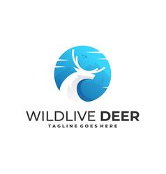 wild live deer template vector image
