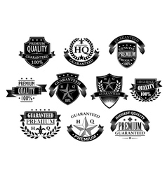 Banners and badges for retail design vector image vector image