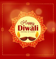 diwali festival background with mandala decoration vector image