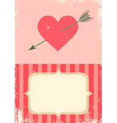 heart with an arrow vector image vector image