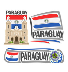 logo paraguay vector image vector image