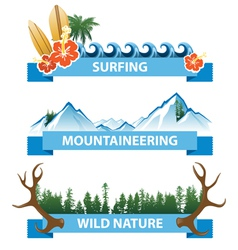 nature banners vector image vector image