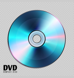 realistic cd or dvd compact disk close up vector image