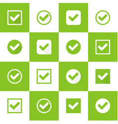 Set buttons with check marks vector