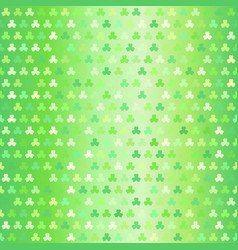 glowing shamrock pattern seamless clover vector image vector image