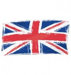 Grunge united kingdom flag vector