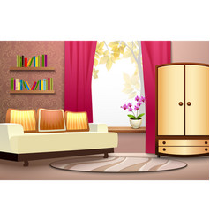 room cartoon interior vector image vector image