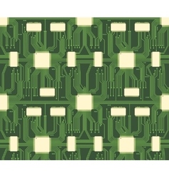 Seamless microchip industrial electronic circuit vector image