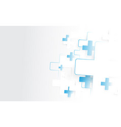 abstract white and blue medical crosses sign vector image vector image