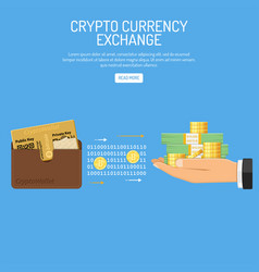 crypto currency bitcoin technology concept vector image vector image