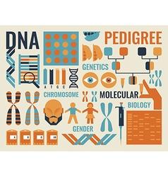 Molecular Biology vector image vector image