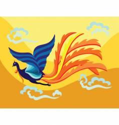 oriental phoenix vector image