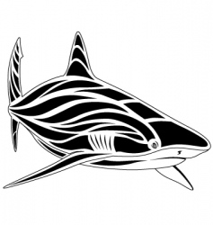 shark tattoo vector image vector image