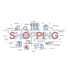 shopping e-commerce retail sale delivery vector image