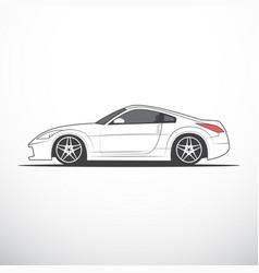 sketch of japan sport car vector image vector image