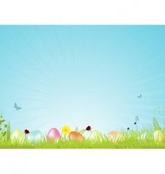 tranquil Easter background vector image vector image