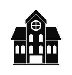 House with a mansard black simple icon vector image vector image