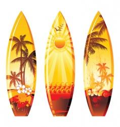 Surfboards vector