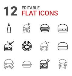 12 tomato icons vector image
