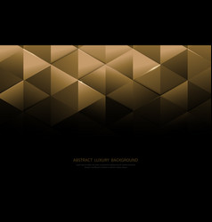 Abstract gold triangle shapes and luxury pattern vector