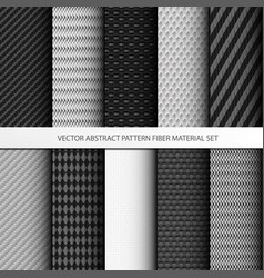 Abstract pattern fiber material set vector