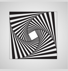 abstract swirl square vortex structure vector image