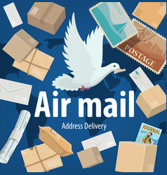 air mail service freight and parcels delivery vector image