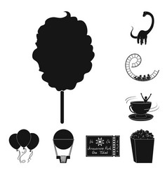 amusement park black icons in set collection for vector image