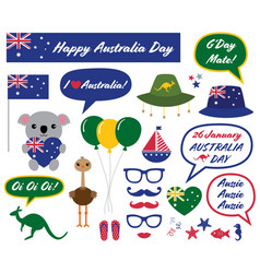 australia day design elements vector image