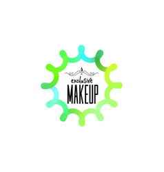 badge as part design - cosmetics logo vector image