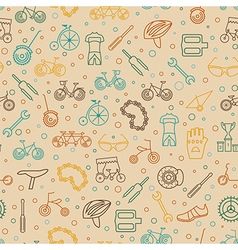 Bicycle seamless pattern Tnin line design vector