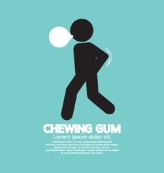 Black Symbol Chewing Gum vector image