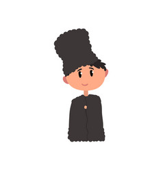 Boy in national clothes of north caucasus kid vector