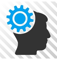 Brain Gear Icon vector image