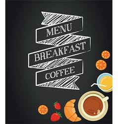 Breakfast menu template vector image