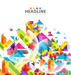 Brochure header layout vector image