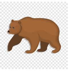 brown bear icon cartoon style vector image