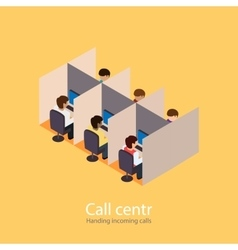 Call centr incoming calls Incoming line vector