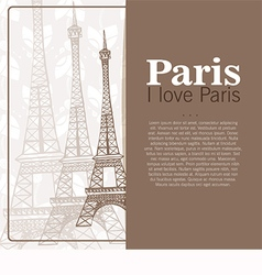 Card to the Eiffel Tower vector