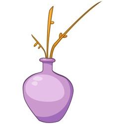 Cartoon home vase vector